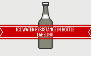 bottle labeling adhesive ice water resistance
