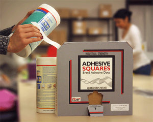 contract packaging adhesive dots